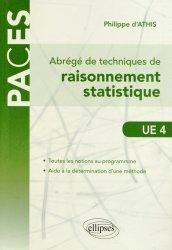 Dernières parutions sur UE 4, Abrégé de techniques de raisonnement statistique