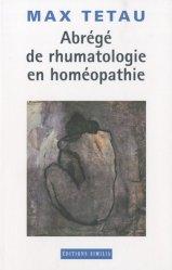 Souvent acheté avec Homéopathie  Principes - Clinique - Techniques, le Abrégé de rhumatologie en homéopathie