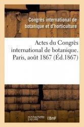 Dernières parutions sur Sciences de la Vie, Actes du Congrès international de botanique