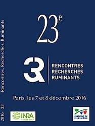 Dernières parutions sur Elevages caprin et ovin, Actes des 23èmes Rencontres Recherches Ruminants 2016 (3R)