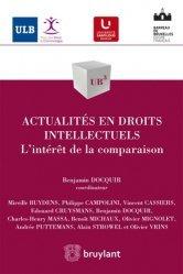 Dernières parutions dans UB3, Actualités en droits intellectuels. L'intérêt de la comparaison