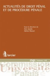 Dernières parutions dans Commission Université-Palais, Actualités de droit pénal et de procédure pénale