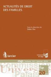 Dernières parutions dans Commission Université-Palais, Actualités de droit des familles
