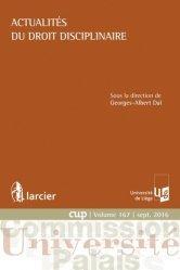 Dernières parutions dans Commission Université-Palais, Actualités du droit disciplinaire