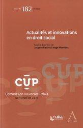 Dernières parutions dans Commission Université-Palais, Actualités et innovations en droit social