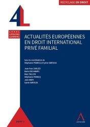 Dernières parutions dans Recyclage en droit, Actualités européennes en droit international privé familial
