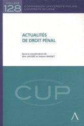 Dernières parutions dans Commission Université-Palais, Actualités de droit pénal