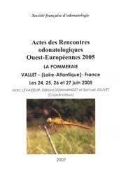 Dernières parutions sur Odonates, Actes des Rencontres odonatologiques Ouest-Européenne 2005