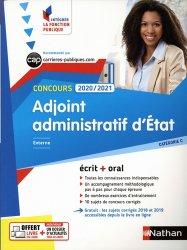 Dernières parutions dans Intégrer la fonction publique, Adjoint administratif d'Etat. Externe catégorie C, Edition 2020-2021