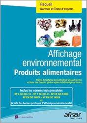 Dernières parutions dans Recueils de normes, Affichage environnemental