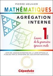 Souvent acheté avec Exercices et problèmes corrigés pour l'agrégation de mathématiques, le Agrégation interne de mathématiques Tome 1
