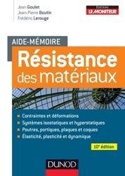 Souvent acheté avec Résistance des matériaux, le Aide-mémoire de résistance des matériaux