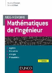 Dernières parutions sur Maths pour l'ingénieur, Aide-mémoire - Mathématiques de l'ingénieur