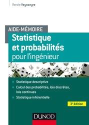 Dernières parutions sur Maths pour l'ingénieur, Aide-mémoire - Statistique et probabilités pour les ingénieurs