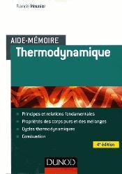 Dernières parutions sur Thermodynamique, Aide-mémoire