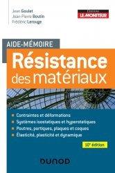Dernières parutions dans Aide-Mémoire, Résistance des matériaux