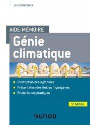 Dernières parutions dans Aide-Mémoire, Aide-mémoire Génie climatique