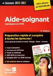 Dernières parutions sur AS-AP, Aide-soignant / admission en IFAS : concours 2020-2021