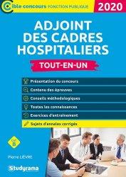 Dernières parutions sur Fonction publique hospitalière, Ajoint des cadres hospitaliers 2020