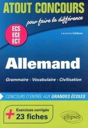 Dernières parutions dans Atout Concours, Allemand ECS ECE ECT. Grammaire, vocabulaire, civilisation