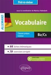 Dernières parutions dans Prêt-à-réviser, Allemand Vocabulaire
