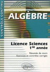 Dernières parutions sur Maths pour les SVT, Algèbre Licence Sciences 1ère année
