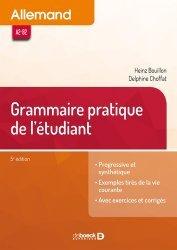 Dernières parutions sur Méthodes de langue (scolaire), Allemand. Grammaire de l'étudiant