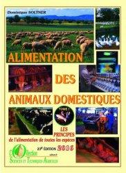 Dernières parutions sur Alimentation, Alimentation des animaux domestiques Tome 1
