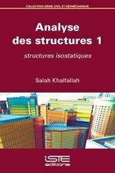 Dernières parutions sur Génie civil, Analyse des structures - Tome 1