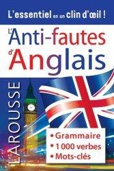 Dernières parutions sur Méthodes de langue (scolaire), Anti-fautes d'anglais