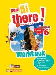Dernières parutions sur 6e, Anglais 6e A1-A2 New Hi There! - Workbook (Edition 2016)