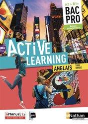 Dernières parutions sur Méthodes de langue (scolaire), Anglais Bac Pro A2>B1+ Active Learning