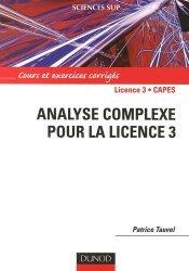 Souvent acheté avec Cours d'algèbre , le Analyse complexe pour la Licence 3