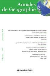 Dernières parutions dans Annales de Géographie, Annales de géographie nº 707 (1/2016) Varia