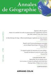 Dernières parutions sur Dictionnaires et techniques de la géographie, Annales de géographie nº 708 (2/2016) Varia
