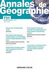 Dernières parutions sur Géographie, Annales de géographie - Nº 731 1/2020 Varia
