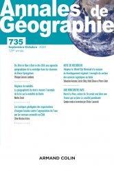 Dernières parutions sur Géographie, Annales de géographie - Nº 735 4/2020