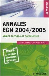 Dernières parutions dans DCEM, Annales ECN 2004/2005