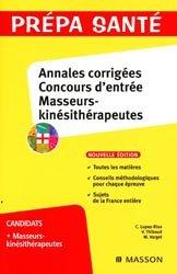 Dernières parutions dans Prépa santé, Annales corrigées Concours d'entrée Masseurs-kinésithérapeutes