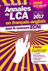 Nouvelle édition Annales de LCA en français-anglais pour le concours ECNi