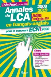 Dernières parutions sur ECN iECN DFASM DCEM, Annales de LCA en français-anglais pour le concours ECNi 2020