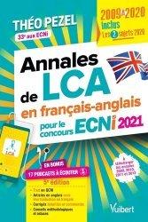Dernières parutions sur ECN iECN DFASM DCEM, Annales de LCA en français-anglais pour le concours ECNI 2021
