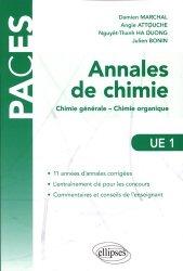 Dernières parutions sur UE1 Chimie, Annales de chimie livre paces 2020, livre pcem 2020, anatomie paces, réussir la paces, prépa médecine, prépa paces