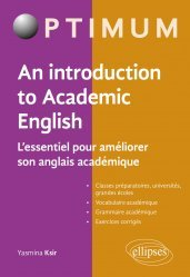 Dernières parutions sur Méthodes de langue (scolaire), An Introduction to Academic English