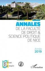 Dernières parutions sur Histoire du droit, Annales de la faculté de droit & science politique de Nice
