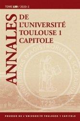 Dernières parutions sur Autres ouvrages de philosophie du droit, Annales de l'université Toulouse 1 Capitole