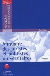 Dernières parutions dans Pratique professionnelle, Annuaire des juristes et politistes universitaires. 3ème édition