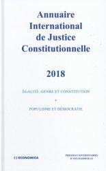 Dernières parutions sur Conseil constitutionnel, Annuaire international de justice constitutionnelle. Tome 34, Edition 2018