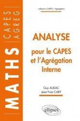 Dernières parutions dans Capes / Agrégation, Analyse pour le Capes et l'Agrégation interne