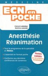 Dernières parutions dans ECN en poche, Anesthésie - Réanimation